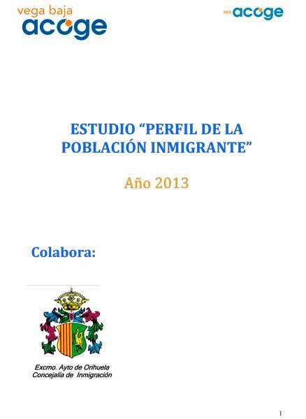 Estudio Vega Baja Acoge 2013