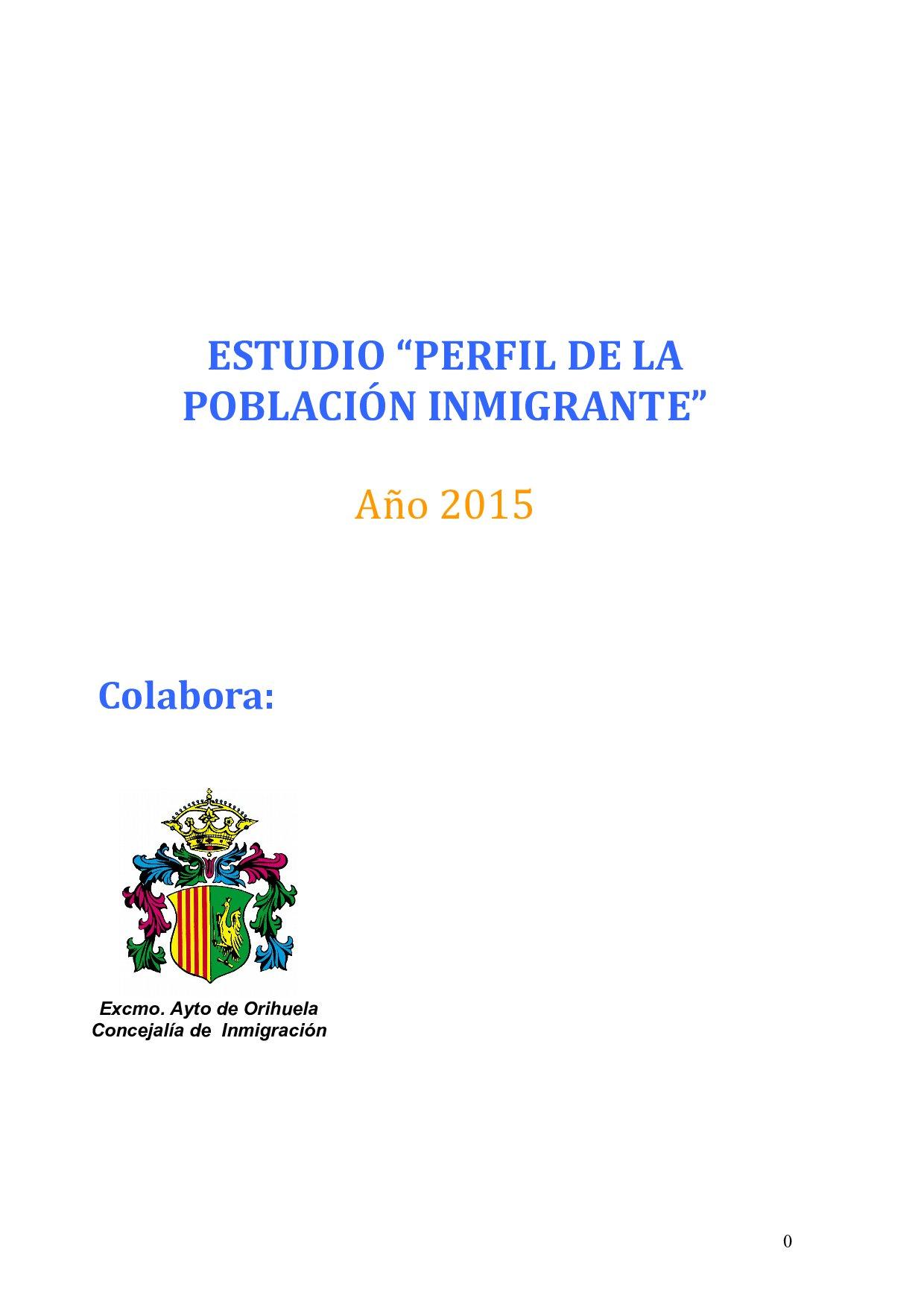 Estudio Vega Baja Acoge 2015