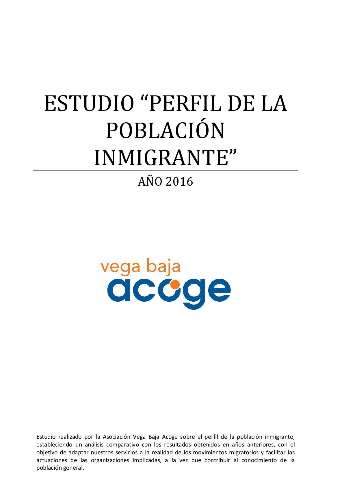 Estudio Vega Baja Acoge 2016