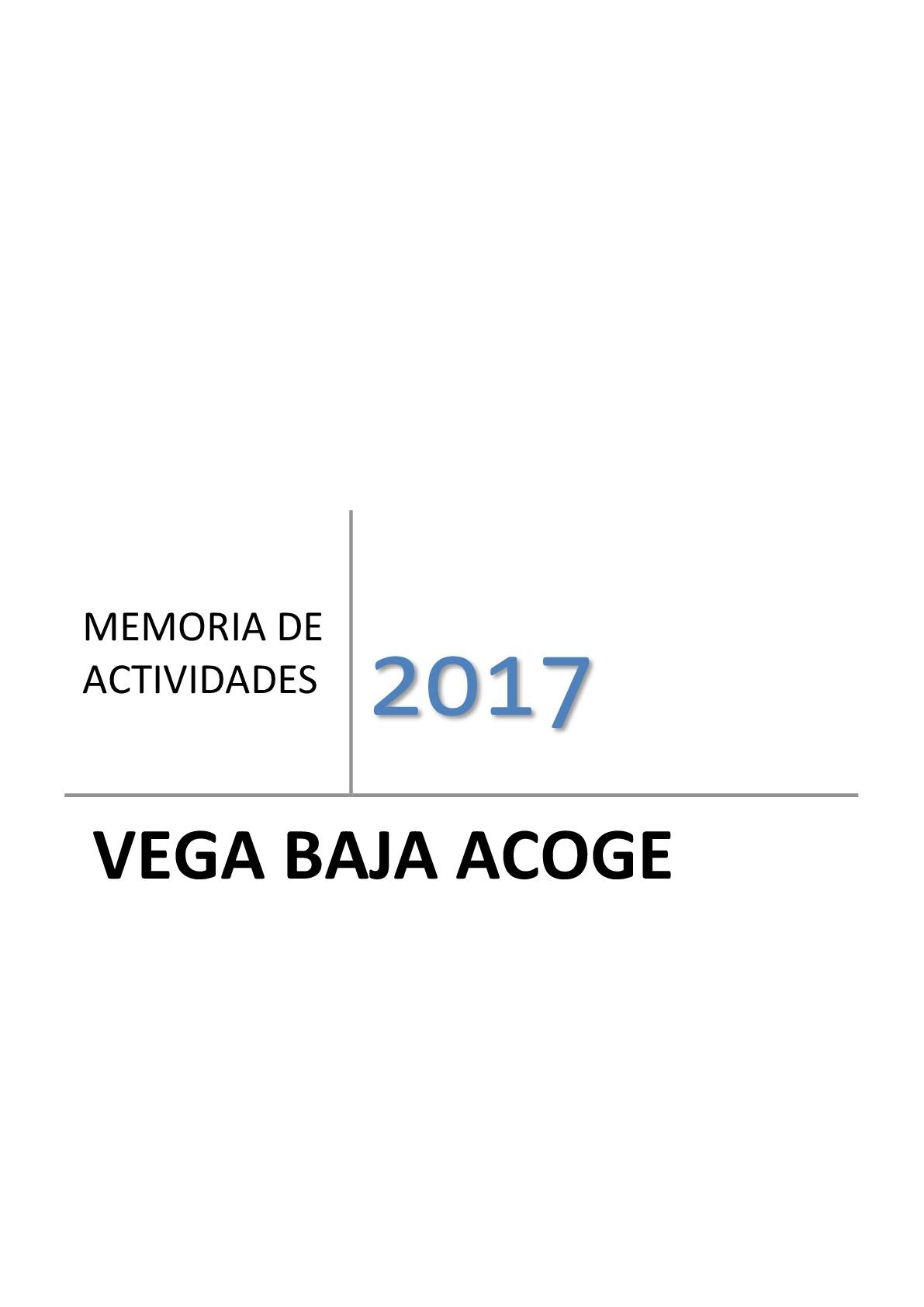 Memoria Actividades 2017