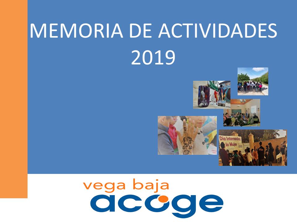 Memoria Actividades 2019